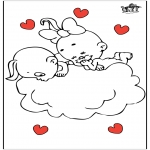 Theme coloring pages - Valentine's day 81
