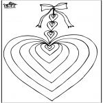 Theme coloring pages - Valentine's day heart