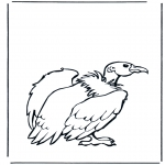 Animals coloring pages - Vultures