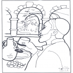 Bible coloring pages - Water became wine