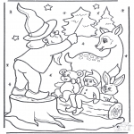 Winter coloring pages - We sing in the snow