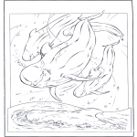 Animals coloring pages - White dolphin