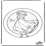 Crafts - Window picture Cinderella
