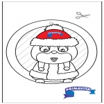 Crafts - Window picture - Hamster 2