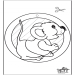 Crafts - Window picture mouse
