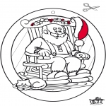 Christmas coloring pages - Window picture Xmas 1