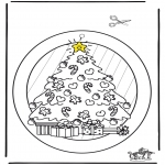 Christmas coloring pages - Window picture Xmas 2