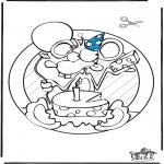 Crafts - Windowpicture birthday