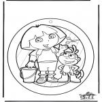 Crafts - Windowpicture Dora 1
