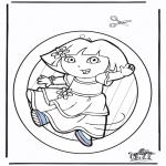 Crafts - Windowpicture Dora 2