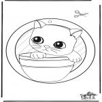 Crafts - Windowpicture kitten