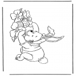 Theme coloring pages - Winnie the Pooh like Easter bunny