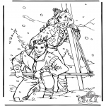 Winter coloring pages - Winter Barbie