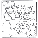 Winter coloring pages - Winter joy