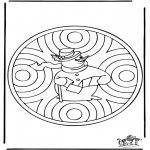 Winter coloring pages - Winter mandala 1