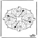 Winter coloring pages - Winter mandala 4
