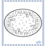 Winter coloring pages - Winter mandala 5