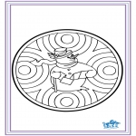 Winter coloring pages - Winter mandala 6