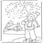 Winter coloring pages - Winter number drawing 1