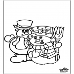 Winter coloring pages - Winter window color 3