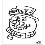 Winter coloring pages - Winter window color 4