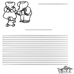 Crafts - Writing paper Babar