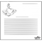 Crafts - Writing paper Cinderella