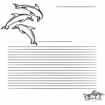 Crafts - Writing paper dolfin