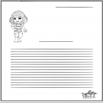 Crafts - Writing paper girl