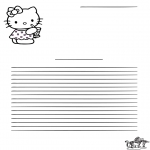 Crafts - Writing paper Hello Kitty