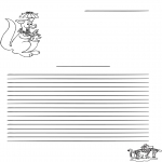 Crafts - Writing paper kangaroo