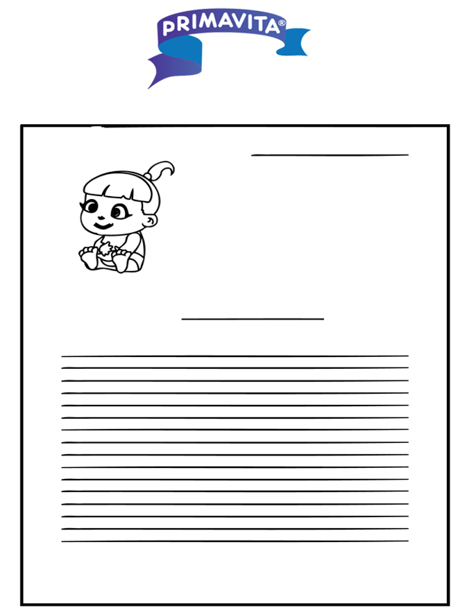 Writing paper Primavita baby - Writing paper