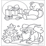Christmas coloring pages - X-mas coloringpage 1