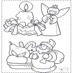 Christmas coloring pages - X-mas coloringpage 2