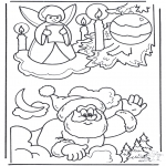 Christmas coloring pages - X-mas coloringpage 3