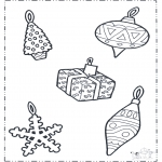 Christmas coloring pages - X-mas decoration 1