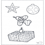 Christmas coloring pages - X-mas decoration 2