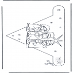 Christmas coloring pages - X-mas decorationflag 1