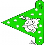 Christmas coloring pages - X-mas decorationflag 10