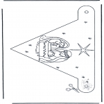 Christmas coloring pages - X-mas decorationflag 2