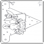 Christmas coloring pages - X-mas decorationflag 3
