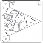 Christmas coloring pages - X-mas decorationflag 4