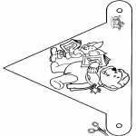 Christmas coloring pages - X-mas decorationflag 5