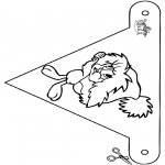 Christmas coloring pages - X-mas decorationflag 7
