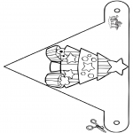 Christmas coloring pages - X-mas Decorationflag 8