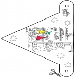 Christmas coloring pages - X-mas decorationflag 9