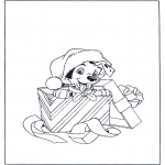 Christmas coloring pages - X-mas dog