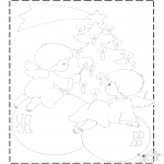 Christmas coloring pages - X-mas drawing