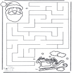 Christmas coloring pages - X-mas labyrinth 2