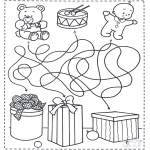 Christmas coloring pages - X-mas labyrinth 4
